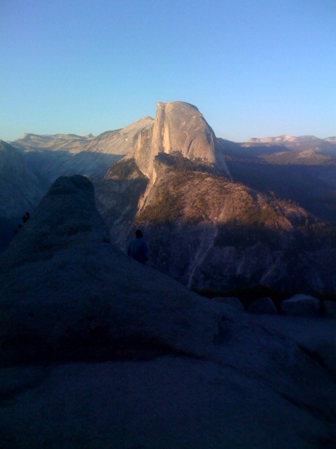 Sunset at Half Dome June 12,2008