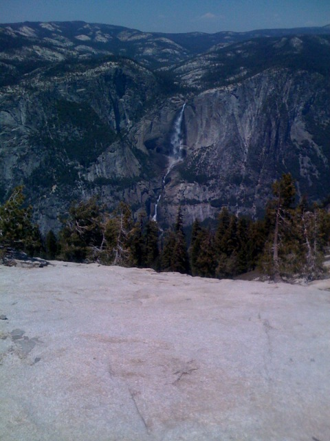 Yosemite falls from Sentimel Dome