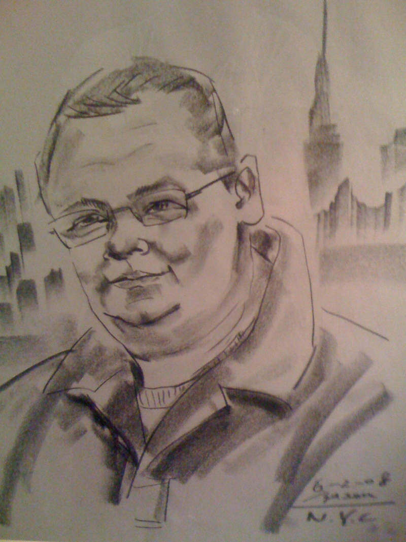 Daddy Claxton, as done by NYC artist at 7th and Broadway