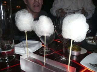 Cotton Candy with Duck Liver, by @scrappinmichele